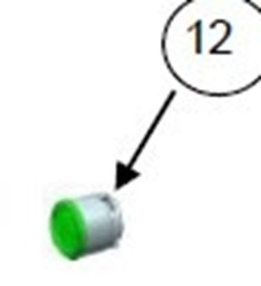 Obrázek Bezpečnostní knoflík Philips 996510049401 originál