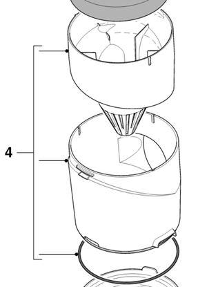 Obrázek Cyklonový filtr 432200535601 do vysavače Philips - NELZE