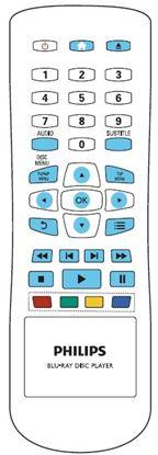 Obrázek Dálkový ovladač DVD - Philips BDP2600/12