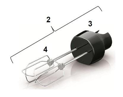 Obrázek Komplet metlička HR1962  42030360816 tyčový mixér